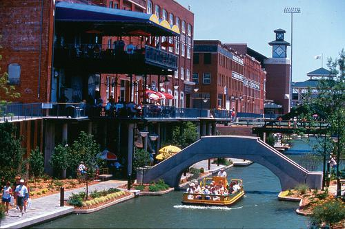 ... in Bricktown, the reinvented warehouse district of Oklahoma City