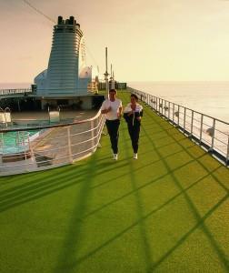 Jogging aboard crusie ship