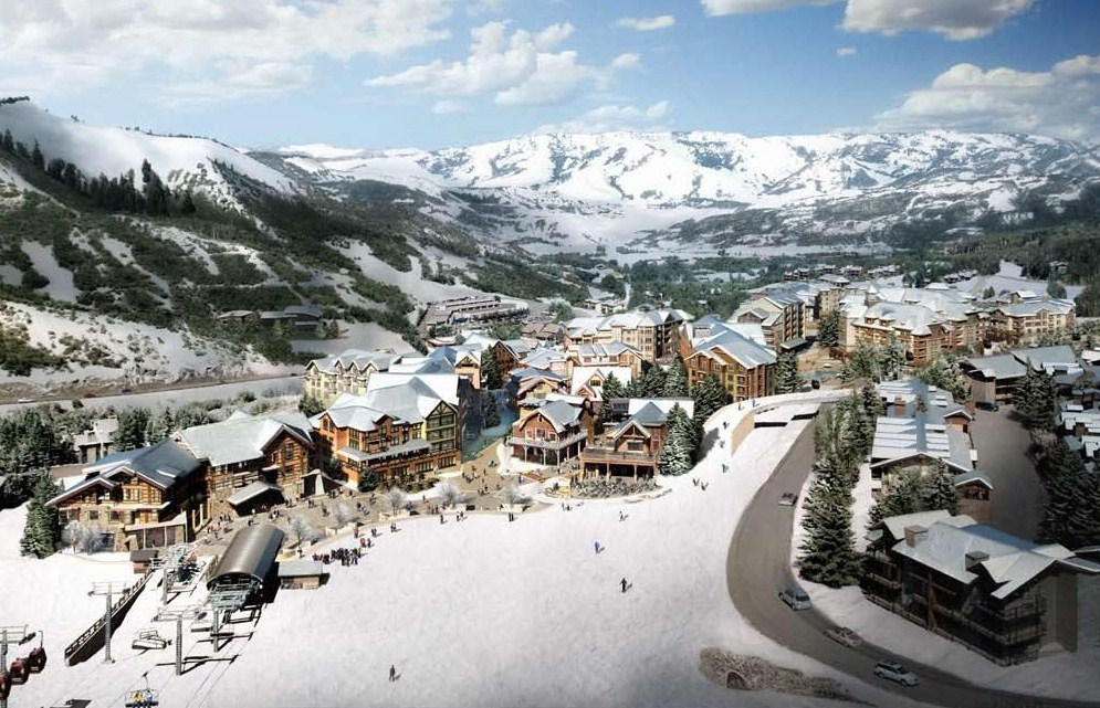 New Snowmass Base Village in Winter