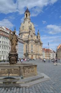 Dresden's Frauenkirche at center, is Germany's most important protestant church
