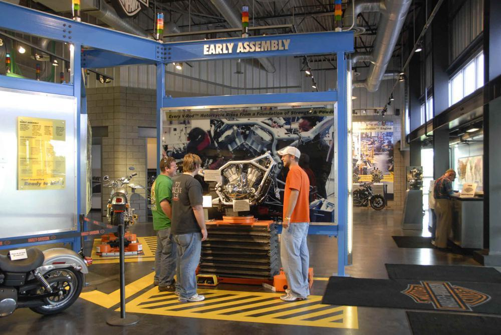 harley-davidson offers factory tours in three locations •