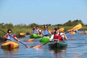 Kayaks on the Marsh at Assateague Island National Seashore
