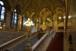 The beautiful Hungarian Parliament building dazzles