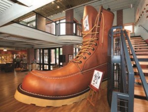 "See the ""World's Largest Boot"" at the Red Wing Shoe Museum."