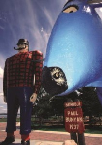 Giant statues of Paul Bunyan and Babe the Blue Ox provide stellar photo ops in Bemidji.