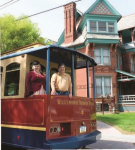 Trolley tours showcase historic mansions on Millionaires' Row in Williamsport.