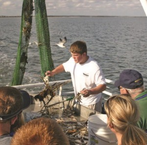 Groups can go shrimping off the coast of Georgia's St. Simons Island.