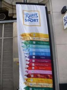 Ritter Sport Chocolate World Sign