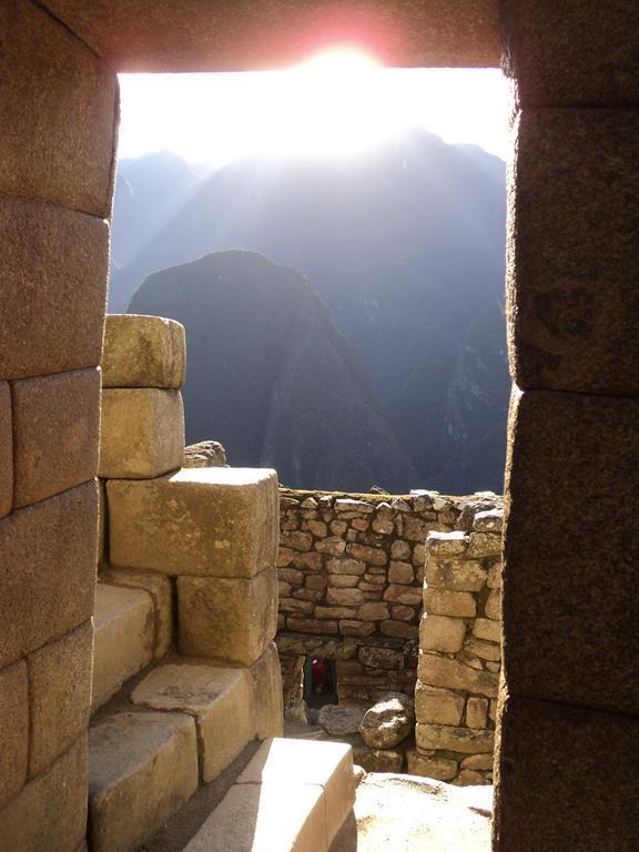 Habitation Doorway in Machu Picchu. Temple of the Sun, Cusco.