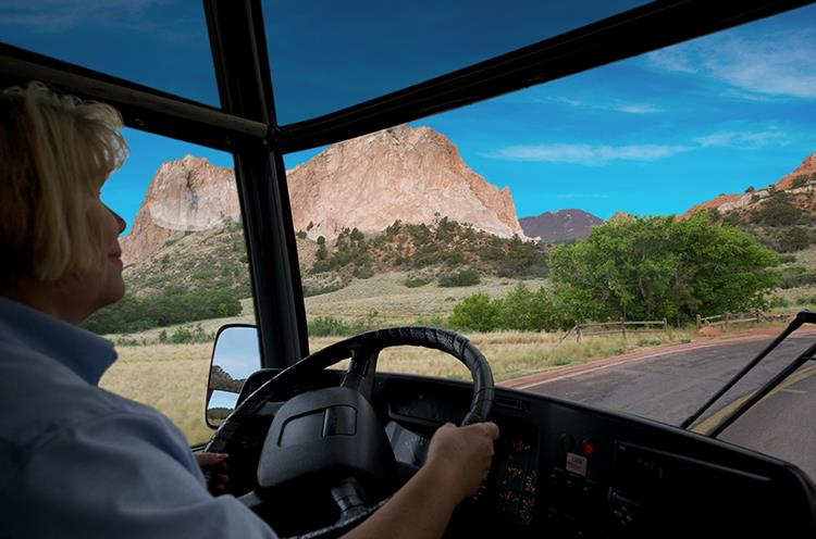 Enjoy guided tours and the scenery while driving through Garden of the Gods Park