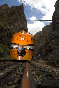 All aboard one of the region's scenic train rides like the Royal Gorge Route Railroad