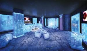 The Ice Bar on Norwegian Getaway