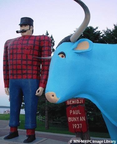 Paul Bunyan and Babe the Blue Ox-in Bemidji
