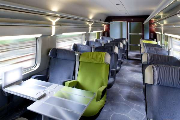 First Class on the French TGV
