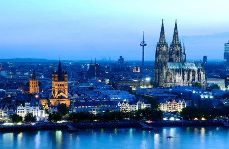 Cologne's twin-spired Gothic Cathedral is the most visited attraction in Germany, annually drawing up to six million people a year. Construction of the church began in 1248. Photo courtesy Cologne Tourist Board