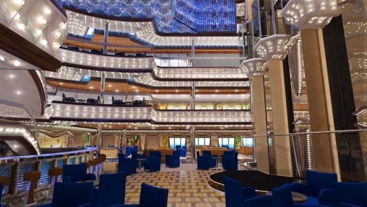Atrium onboard Costa Diadema