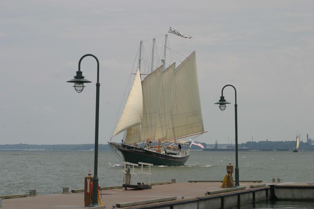 Alliance sailing by Riverwalk