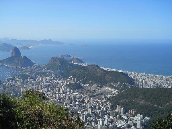 View of Rio de Janeiro from atop Corcovado