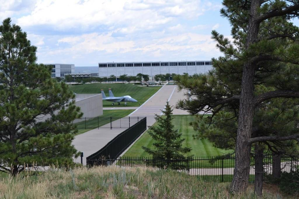 Visitors to the United States Air Force Academy may access several overlooks across the large complex, including the 17-spire Cadet Chapel which rises into the sky 150 feet.
