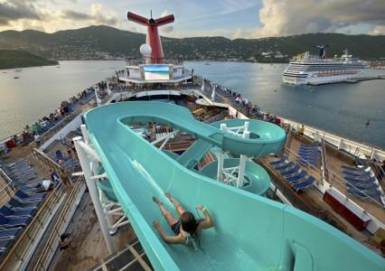 Water slide onboard Carnival Freedom (Photo Courtesy of Carnival Cruise Lines)