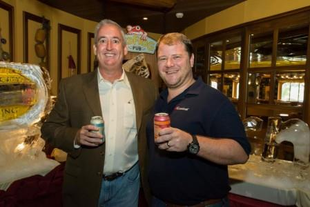 Joe Burns, National Sales Manager, Cigar City Brewing and Edward Allen, Carnival Cruise Lines - New Partnership (Photo courtesy of Carnival Cruise Lines)