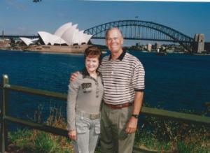 Gordon and Patty Bartlett enjoy Sydney Harbor