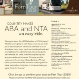 Going to ABA & NTA? Hop on the Country Inn Fam Tour!