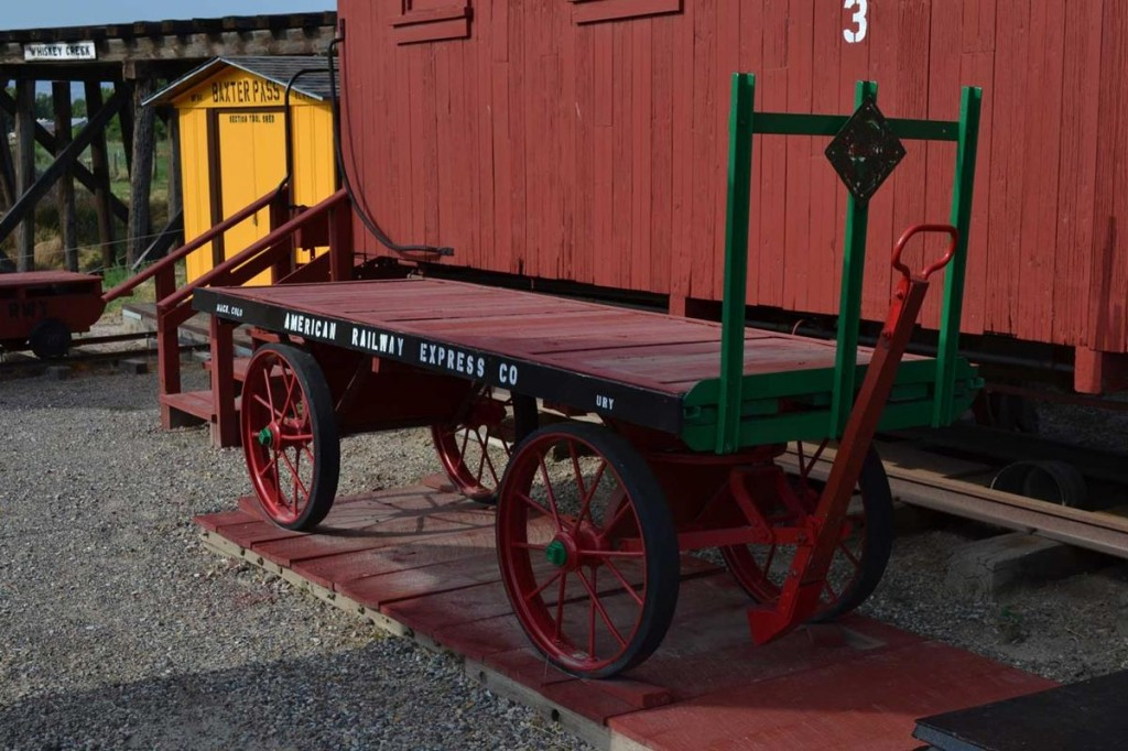 Trains and train equipment are featured at the Cross Orchards Historic Site in Grand Junction