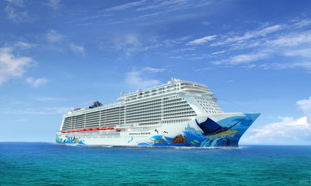 Exterior of Norwegian Escape (Photo courtesy of Norwegian Cruise Line)