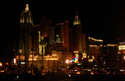 New York Casino at Night