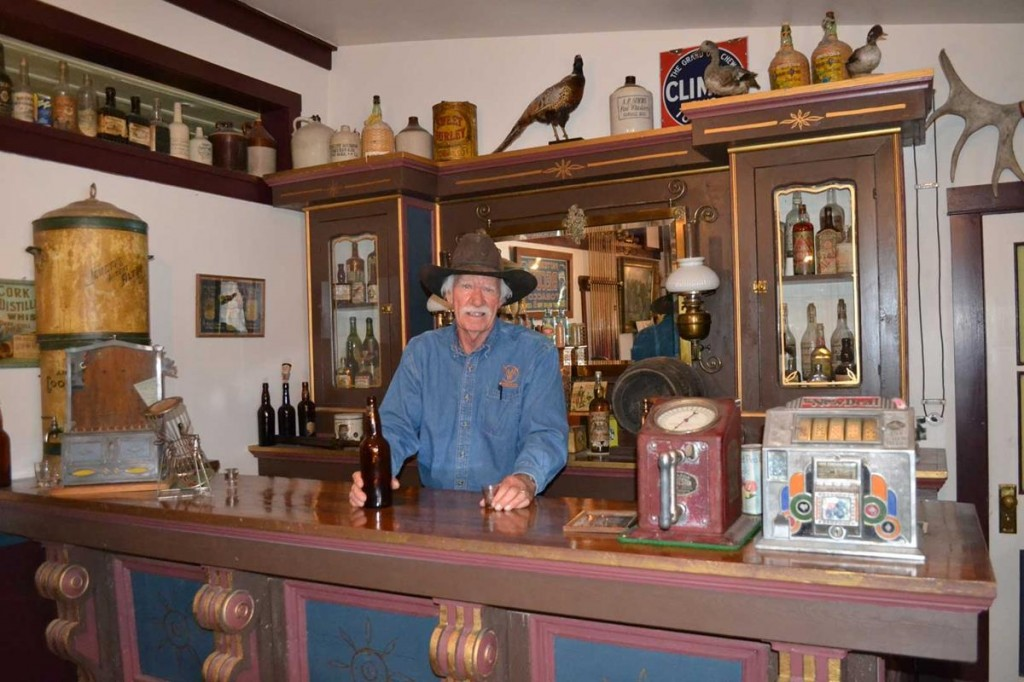 Richard Fike of the Museum of the Mountain West in Montrose shows off his old-fashioned 19th century saloon.
