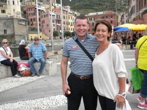 Clayton Whitehead in Cinque Terre with local guide