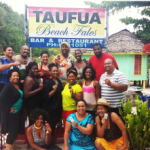 Nomadnessx group stops for a quick picture while in Apia, Samoa this past August