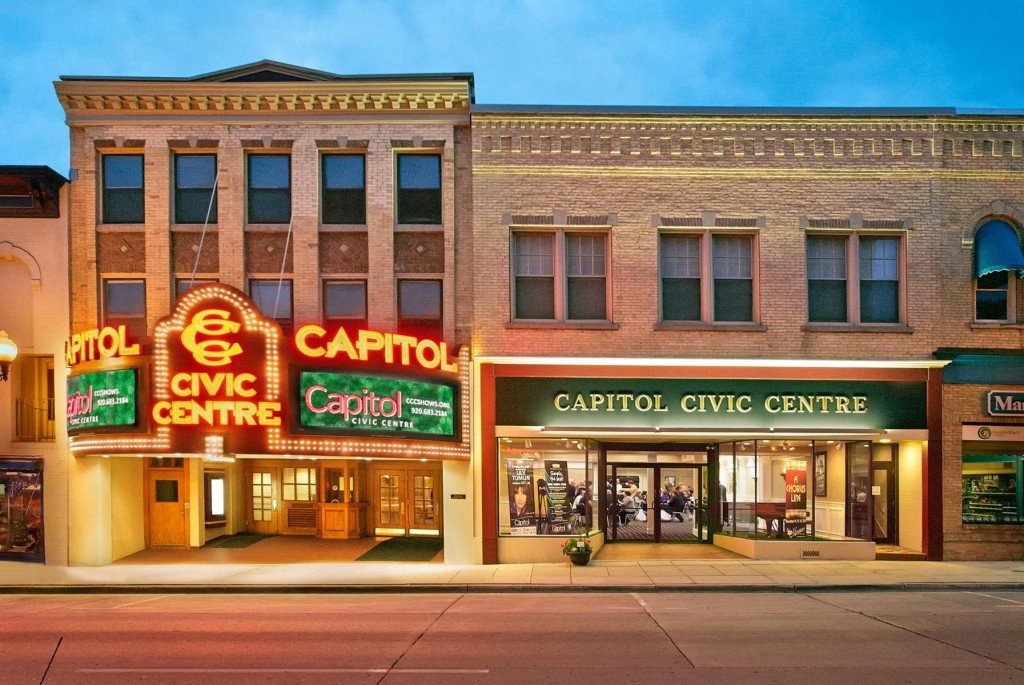 The Capitol Civic Centre in Manitowoc occupies a 1921 vaudeville theater.