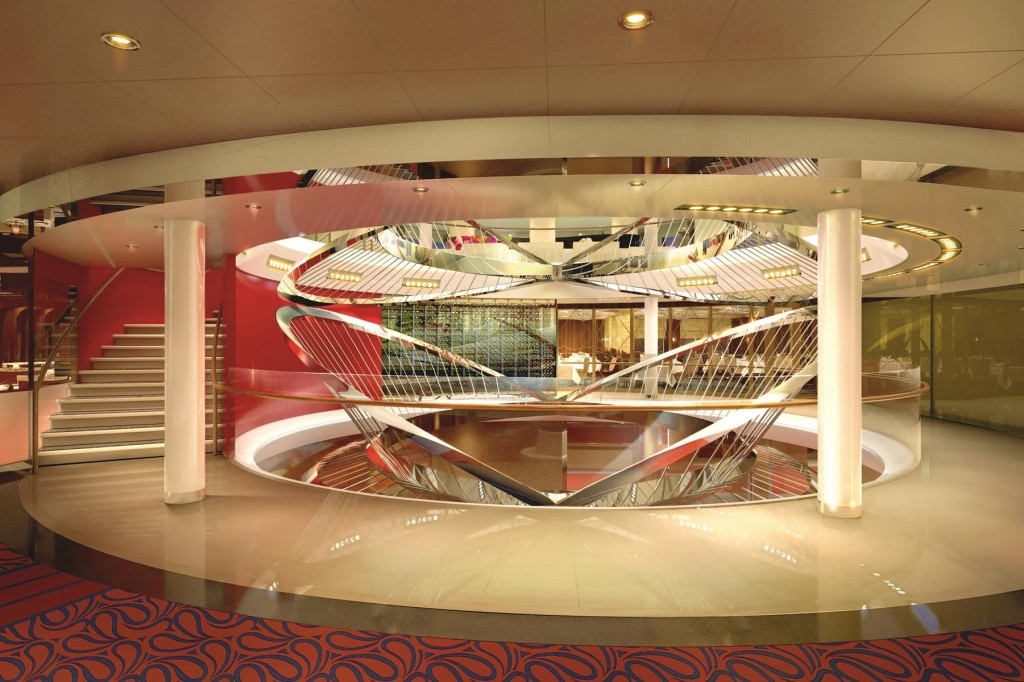 Koningsdam Atrium. Photo Courtesy of Holland America Line