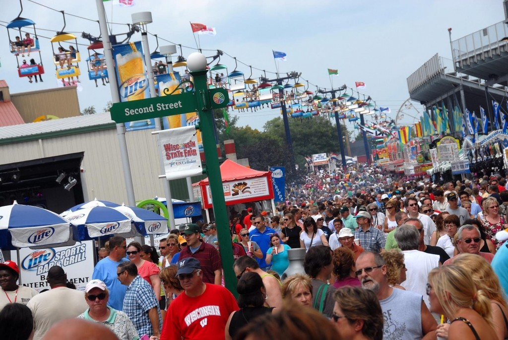 The Wisconsin State Fair in West Allis (Aug. 6-16, 2015) offers carnival rides, good food and a look at the state's farming prowess.