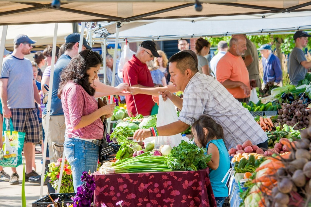 Buy fresh at farmers markets in Stevens Point and Madison