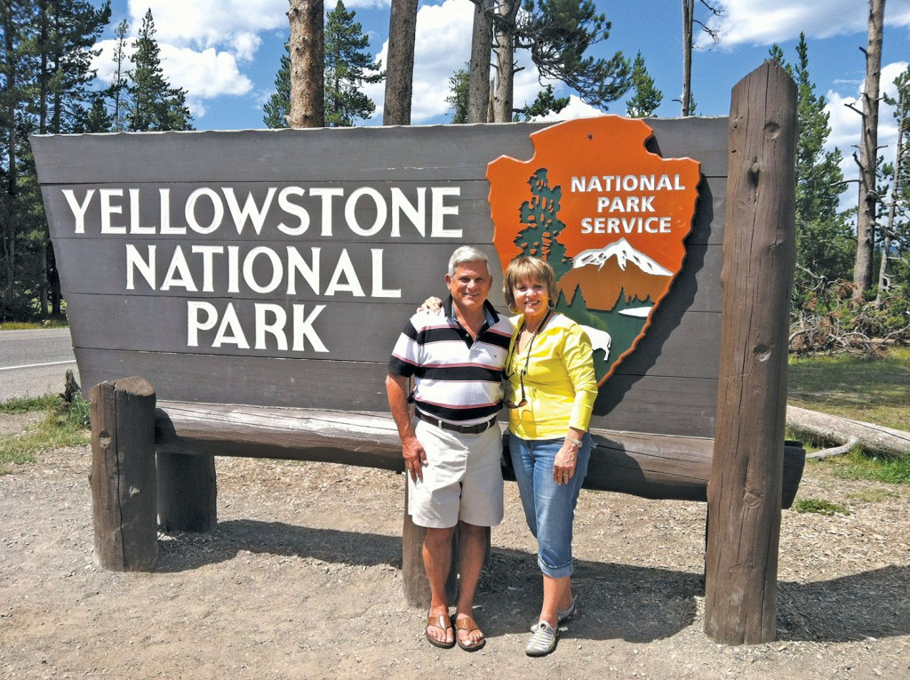 John and Mary Stachnik at Yellowstone National Park