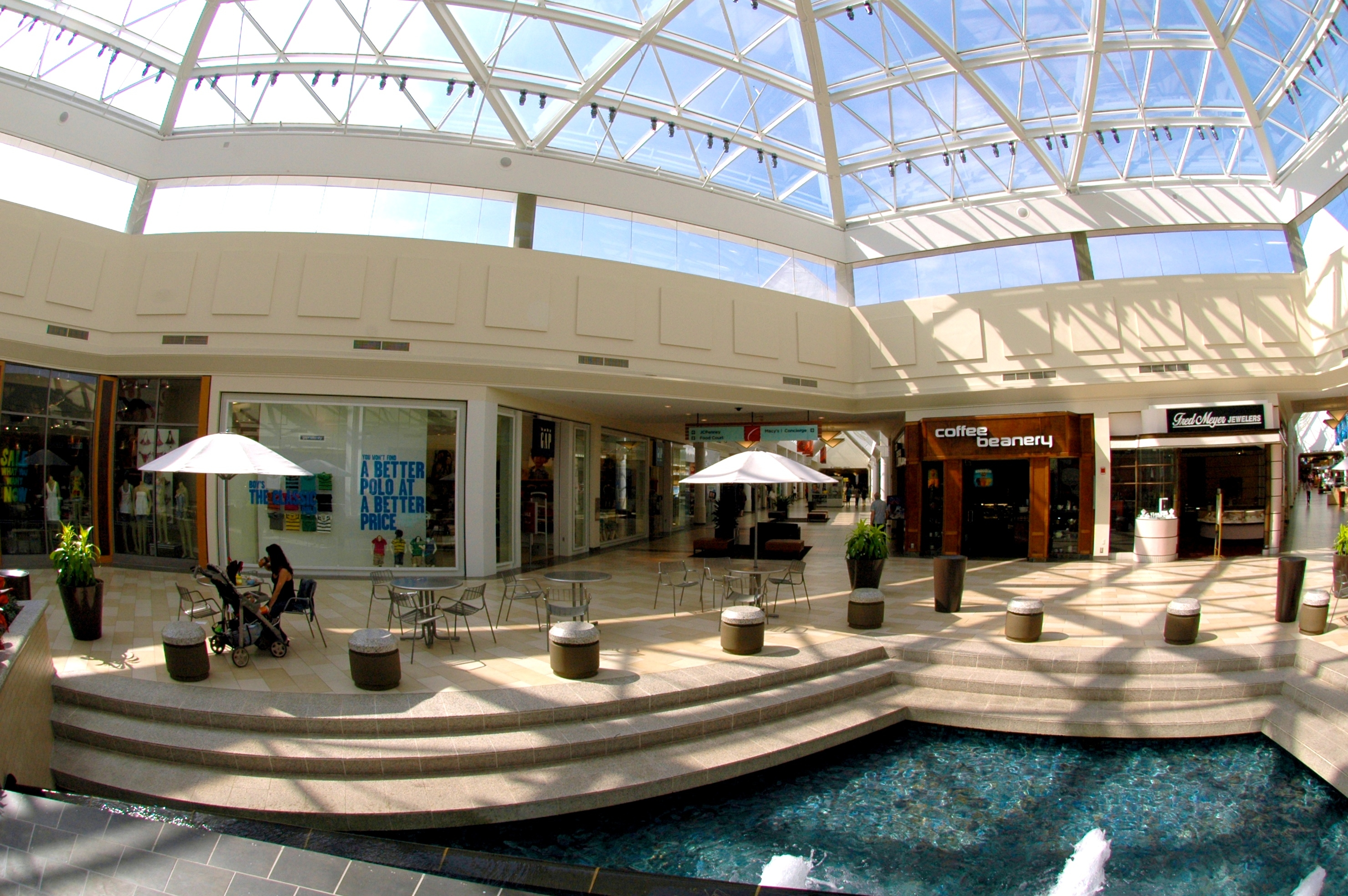 The Christiana Mall is a super-regional shopping mall located between the cities of Newark and Wilmington, Delaware, United States. The mall is situated at the intersection of Interstate 95 (exits 4A-B) and Delaware Route 1, near the Cavaliers Country Club, and close to .