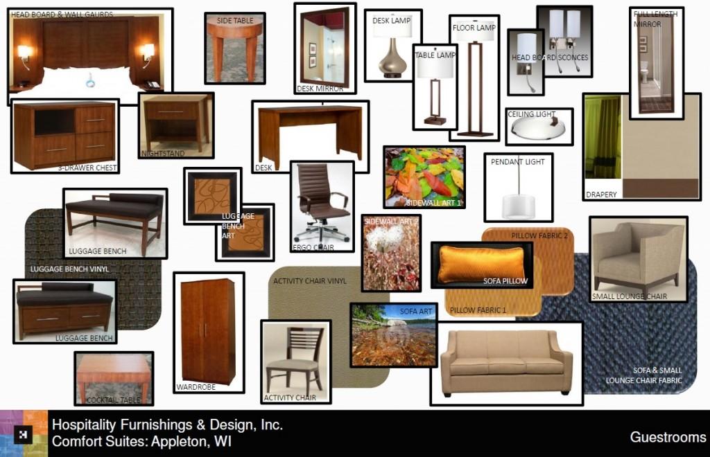 Comfort Suites Appleton design board
