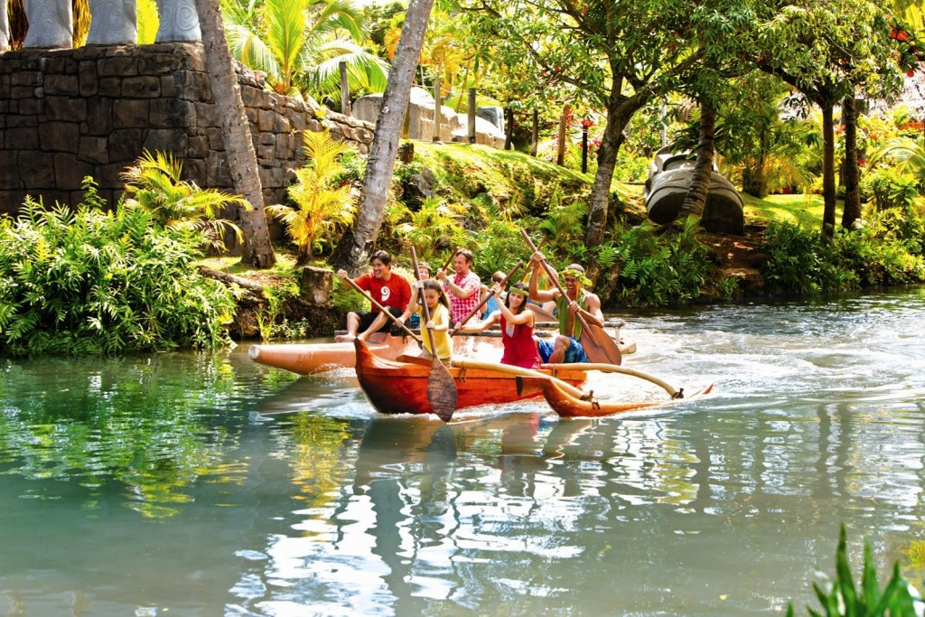 Outrigger Canoe Paddling, Polynesian Cultural Center