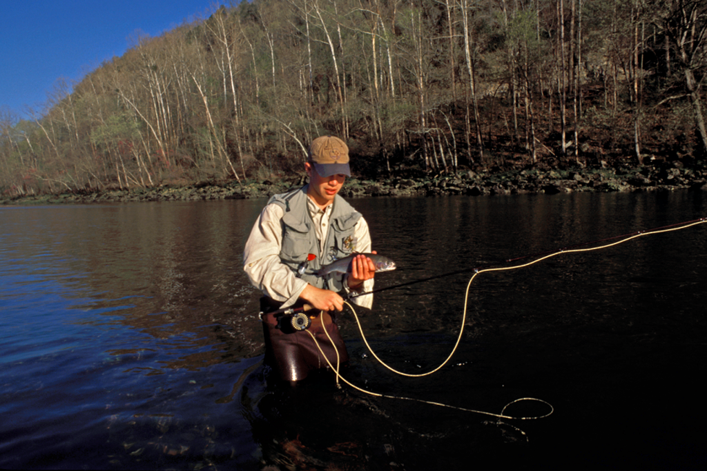 Fly fishing on the White River. Photo Courtesy Arkansas Department of Parks and Tourism