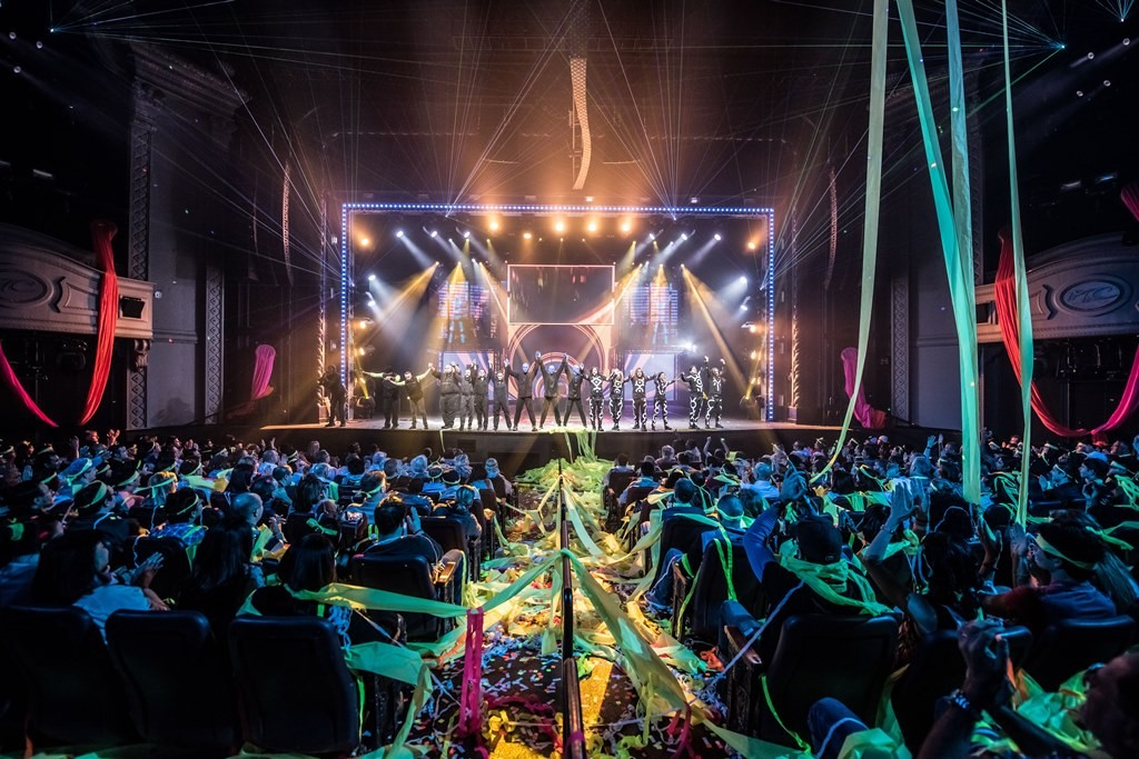 Blue Man Group Cast bows after electrifying finale at Monte Carlo Resort and Casino.