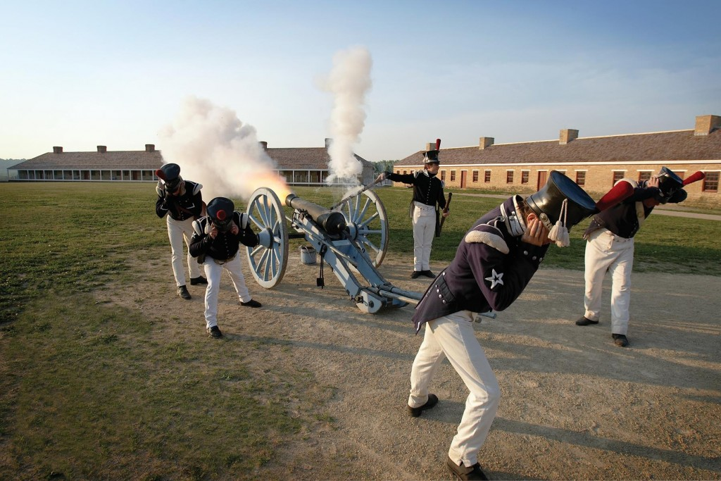 Cannon Drill, Fort Snelling