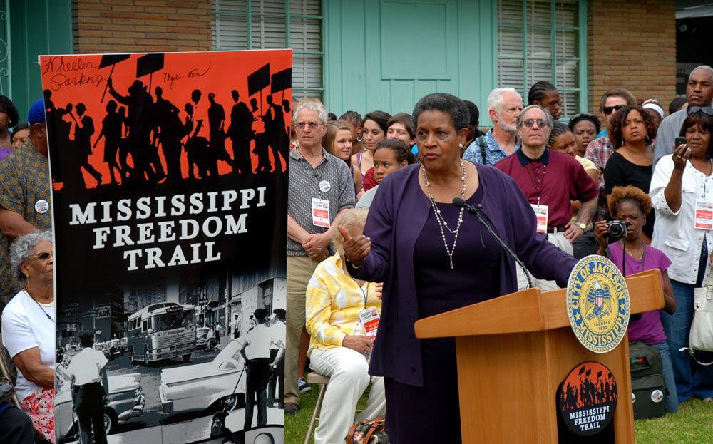 Jackson, MS - Myrlie Evers Williams at Freedom Riders 50th Anniversary