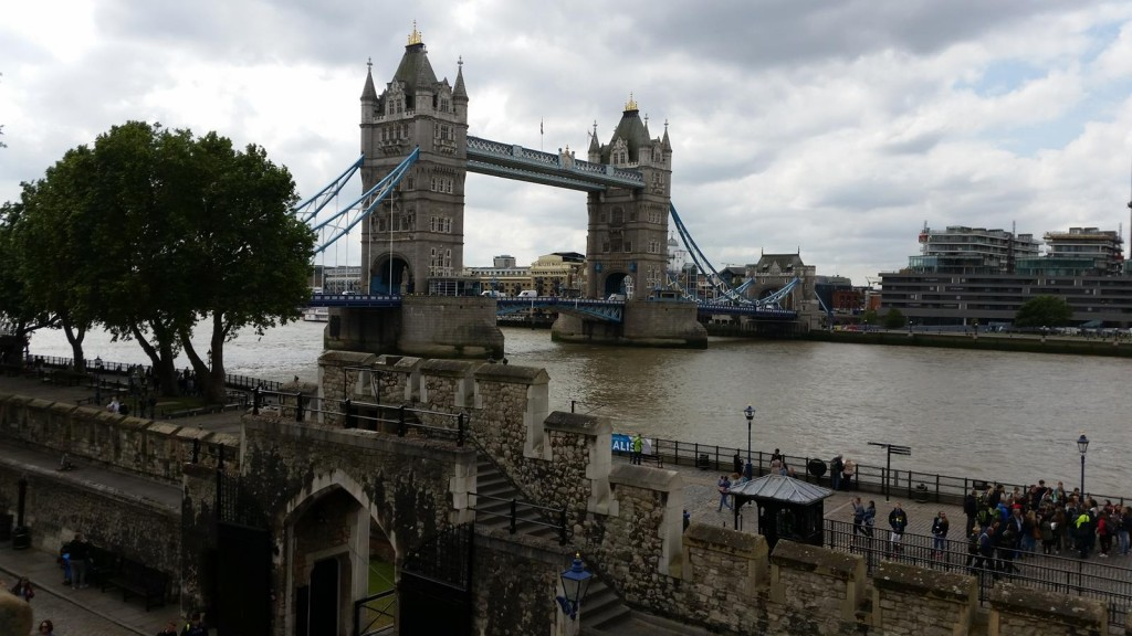 Tower Bridge from the wall of the Tower of London