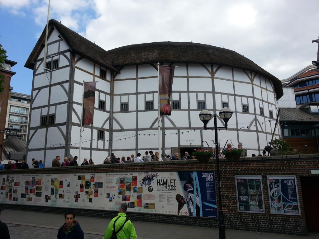 Taking a culture break at Shakespeare's Globe Theater