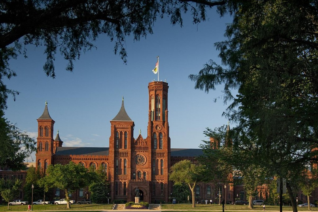 Early morning views of the Smithsonian Castle