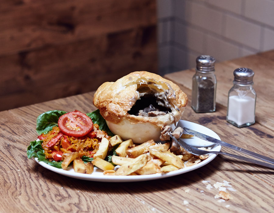 Both my burger and our photographer's Pie and Chips were worth a repeat visit