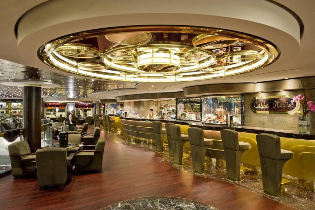 Cafe Italia Coffee Bar on the MSC Divina: Photo Courtesy of MSC Cruises